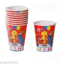 SESAME STREET ABC 9oz PAPER CUPS (8) ~ Birthday Party Supplies Elmo Big Bird