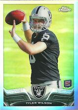 TYLER WILSON 2013 Topps Chrome Football Refractor Card #111 Raiders