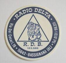 ADESIVO RADIO / Sticker / Autocollant _ RADIO DELTA BASSIGNANA (cm 7 x 7)