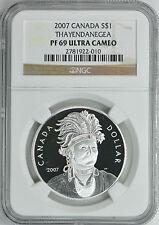 Canada 2007 S$1 Silver Thayendanegea NGC Proof-69 UC