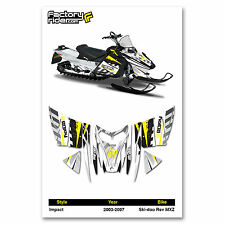 2003-2007 SKI DOO REV MXZ SNOWMOBILE GRAPHICS IMPACT STYLE BY ENJOY MFG