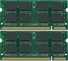 NEW 2GB (2x1GB ) DDR2 PC2-4200 PC4200 533MHz SODIMM LAPTOP MEMORY RAM 2X 1GB Kit