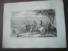 GRAVURE 1880 PASSAGE DU RHIN