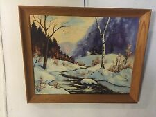 "Painting Oil&Canvas Winter Scene Signed ""Melanie Sino"" C9pix4Size/etc.Make Offer"