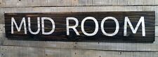 """MUD ROOM - Large Rustic Wood Sign 42"""" long Farmhouse Stained Distressed Letters"""