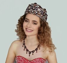 Magnificent Bridal Tiara  Gold Pink Crown Hair Accessories