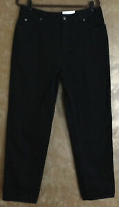 Lands End Women's Natural Fit Black Jeans...Size 16..NWT