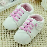 Newborn Infant Toddler PU Leather Shoes Soft Sole Girls Baby Crib Shoes Sneaker