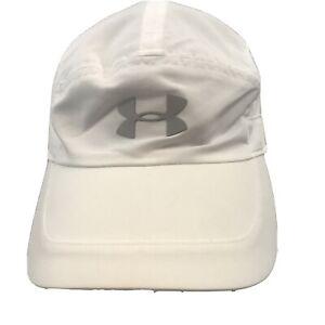 Under Armor White UA Run Cap Women Ultralight Adjustable Reflective
