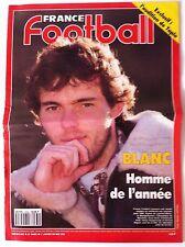 France Football du 1/1/1991; Blanc l'homme e l'année/ L'audition de Tapis