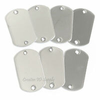 WHOLESALE 200 100 50 25 TWO HOLE BLANK DOG TAG STAINLESS STEEL MILITARY SPEC