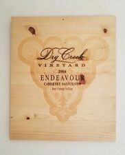 DRY CREEK VINEYARD WINE CASE LID WITH PICTURE HANGER