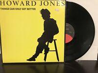 "Howard Jones – Things Can Only Get Better 12"" Single 1985 Elektra 0-66915 VG+"