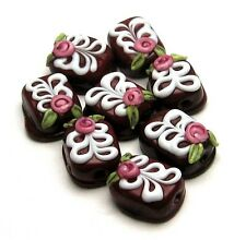 Made to order Margo lampwork beads Chocolate set (8)