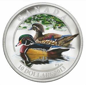 Wood Duck - 2013 Canada $10 Fine Silver Coin