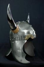 Wikinger Helm Hörnerhelm Ritterhelm Normannenhelm Rüstung Mittelalter Larp R105A