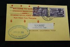 NAVAL COVER 1968 SHIP CANCEL WELCOME NORFOLK CANADIAN FRIGATE GATINEAU (6235)