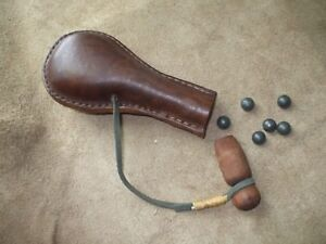 Leather Ball Bag-.50/54 Cal.  Black Powder Muzzle-loading
