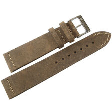 20mm ColaReb Italy Spoleto SHORT Swamp Brown Distressed Leather Watch Band Strap