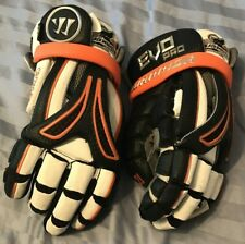 New England Black Wolves Warrior Nll Lacrosse Gloves game used, Kevin Crowley