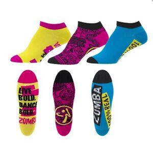 Zumba Dance Bold Socks 3 Pack! ~ New! ~ Free Shipping!
