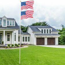 25 Ft Heavy Duty Flag Pole Inground Residential Flagpole Kit &Us American Flag 2