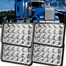 "4X 4""x6"" LED Headlights CREE Light Bulbs Replace HID H4656/4651 Sealed Headlamp"