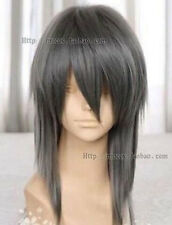 LMRA036  charming dark gray medium cos Straight Cosplay Wig wigs for women