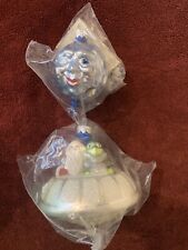 Patricia Breen 1998 2 Piece Christmas Santa And Alien UFO Moon MINT Rare Sealed