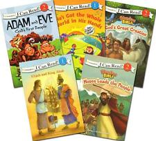 NEW Lot 5 I CAN READ! Level 1&2 Christian Bible Story Readers Homeschool Reading