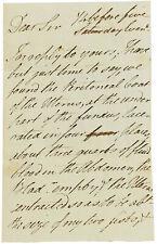 1813 OBSTETRICS - Manuscript Letter - SIR RICHARD CROFT - Princess Charlotte