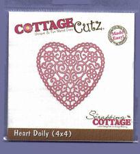 Cottage / Cutz / dimensional / Die / cc4x4-155 / Corte / Corazón / Tapete / Filigrana