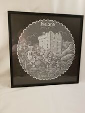 "Vintage Lace Picture of Blarney Castle - Ireland 15"" diameter Framed"