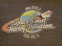 HARLEY-DAVIDSON Motorcycles Men's T-Shirt - sz XXL Space Coast HD, Cocoa Bch, FL