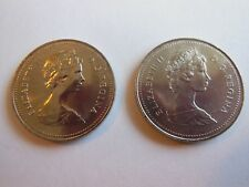 1982 Canada 50 Cents Small Beads Type II & Large Bead Variety High MS Grade