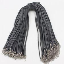 Wholesale 50pcs 45cm Black Brown Velvet Leather String Necklace Cord Jewelry