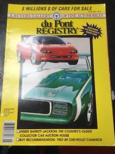DU PONT REGISTRY MAGAZINE JAN 1993 A BUYER'S GALLERY OF FINE AUTOMOBILES
