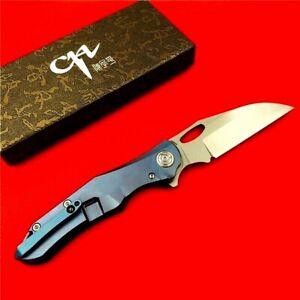 Karambit Claw Folding Knife Pocket Hunting Survival S35VN Blade Titanium Handle