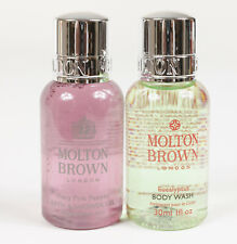 Lot Of 2 Molton Brown Pink Pepper & Eaucalyptus Sample Body Wash Gels 1 oz Each