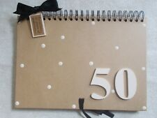Personalised A4 50th Birthday Guest Book Memory Scrapbook Multi Use QUICK POST