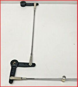 MODEL BOAT TWIN RUDDER LINKAGE KIT 3,4 OR 5mm RUDDER POSTS ADJUSTABLE 75 - 110mm