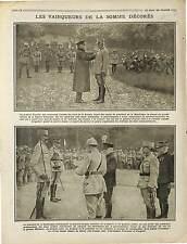 Général Fayolle ,Micheler & Roques Maréchal Joffre , Raymond Poincaré  1916 WWI