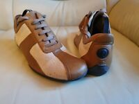 Ladies Gucci Trainers Shoes Brown Beige 37.5  UK  4.5