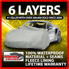 6 Layer Car Cover Indoor Outdoor Waterproof Breathable Layers Fleece Lining 6291