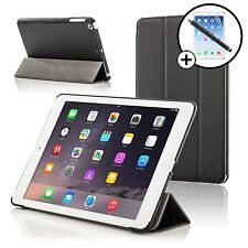 De Cuero Negro Inteligente Plegable funda para iPad Air de Apple + Stylus Y Protector De Pantalla