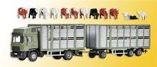Kibri 12248 H0 LKW Viehtransporter mit Anhänger und 12 Kühen