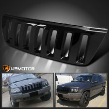 99-04 Jeep Grand Cherokee H2 Style Glossy Black Front Hood Bumper Grill Grille
