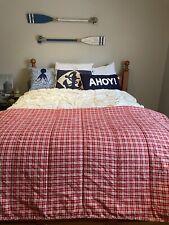 RARE! RED Plaid DOCKSIDE *RALPH Lauren TWIN COMFORTER Bed Vintage Bedspread EUC!