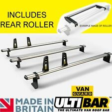Ford Transit Roof Rack Bars Roller 3 Bar 2014on HIGH ROOF LWB TWIN DOORS