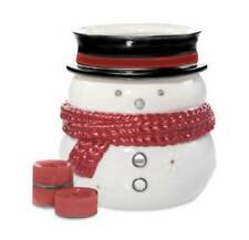 Yankee Candle Snowman Luminary Tealight Candle Holder 5-piece Set Cinnamon Scent